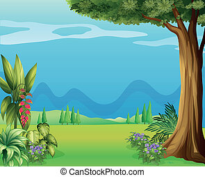 Natural view of mother nature - Illustration of the natural...