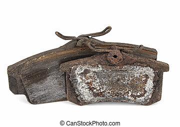 Worn out brake pads - Very worn out brake pads threatening...