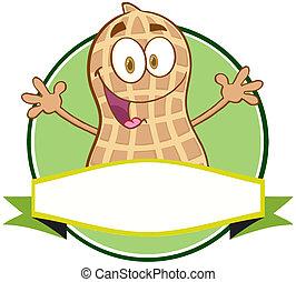 Logo Of A Cartoon Peanut Character - Logo Of A Cartoon...