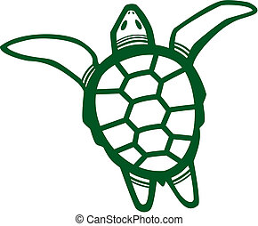 Sea Turtle - Vector illustration of a Sea Turtle