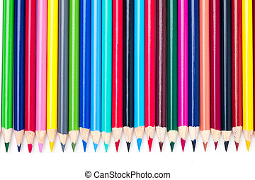 side by side multicolored pencil crayons - A colorful...