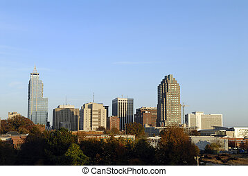 Raleigh North Carolina Downtown Skyline - Raleigh, North...