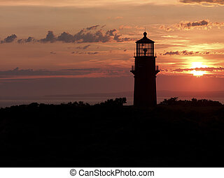silhouette of a lighthouse