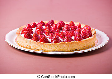Tasty Strawberry Pie - Photograph of a fresh and tasty...