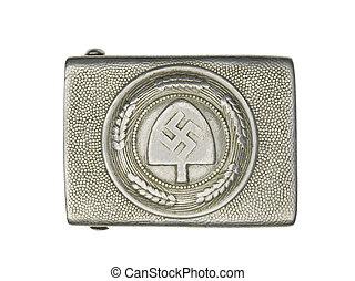 plata, Alemán, militar, cinturón, hebilla