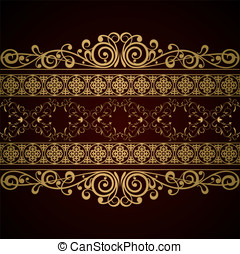 Royal background - Royal vintage damask vector background