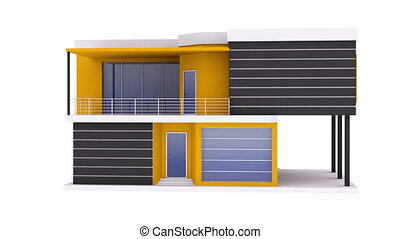 Rotating modern house - Rotating modern black yellow private...