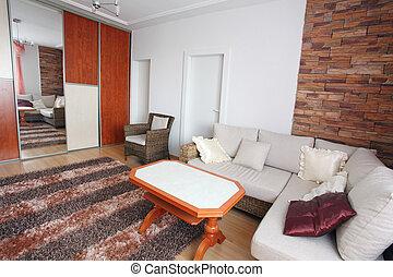 Interior of a home den - living room