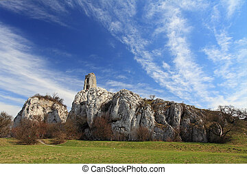 Ruin of castle in Waisenstein