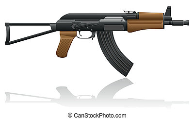 automatic machine AK-47 Kalashnikov vector illustration...