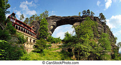 View of Pravcicka brana - the biggest natural gate in...