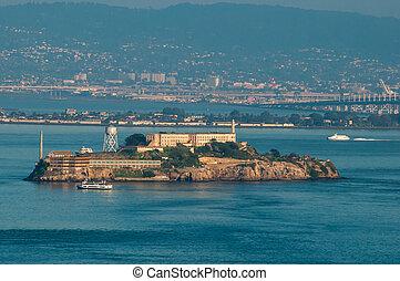 Alcatraz Island at dusk
