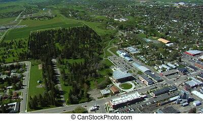 Aerial shot of Bozeman, Montana