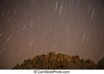 Jumbo Rocks Star Path at Joshua Tree National Park