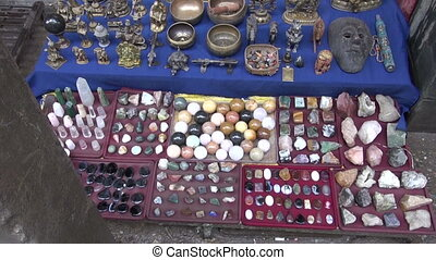 stone souvenirs collection in asia market, India