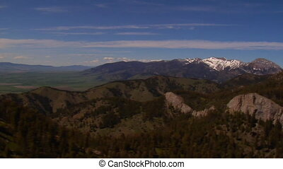 Gallatin Valley Montana - forested mountains