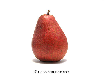 Red Pear - A red DAnjou Pear isolated on white