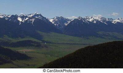 Yellowstone River and PAradise Valley near Livington Montana