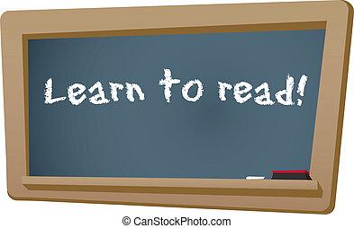 Learn to Read Chalkboard