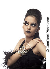 south asian gothic girl