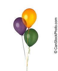 special occasion balloons - Three balloons with curled...