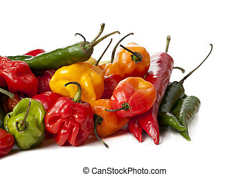 spicy foods - Cropped shot of a group of spicy foods lying...