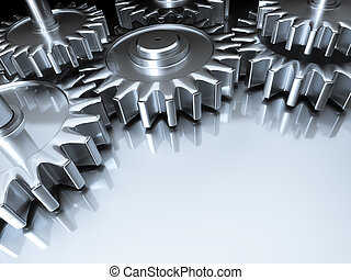 gears background - An image of some nice steel gears