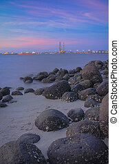 Punngol Beach #3 - Wonderful sunset view from the punggol...