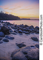 Punngol Beach #4 - Wonderful sunset view from the punggol...
