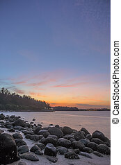 Punngol Beach #5 - Wonderful sunset view from the punggol...