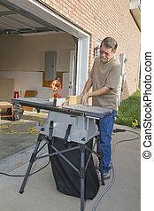 Carpenter repairs - Carpenter repairing exterior door...
