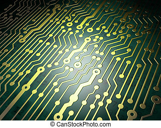Technology concept: circuit board background, 3D render