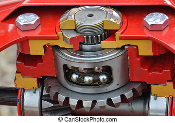 Heavy gear machinery with bearings