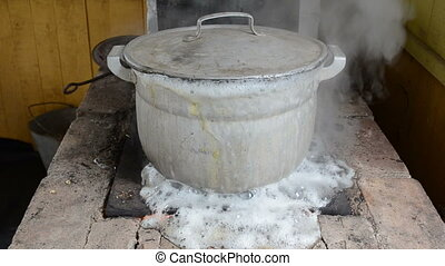 pot water boil flow run