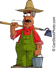 Farmer on a white background vector illustration
