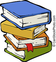 A stack of books on a white background vector illustration