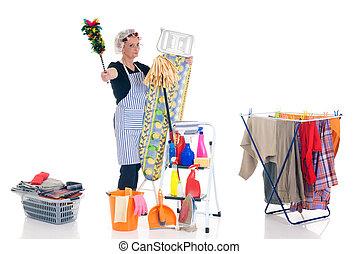 lar, tarefas domésticas