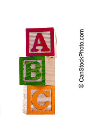 Blocks: Abc 4 of Series - Block Letters that spell abc...