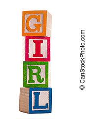 Blocks: Girl2 of Series - Block Letters that spell girl...