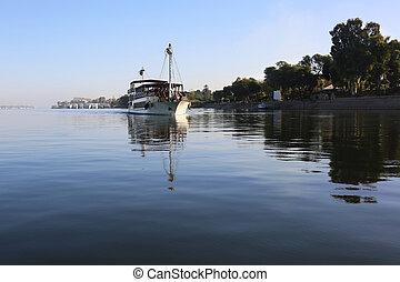 Cruise Ship Nile Luxor Egypt - a cruise ship is leaving the...