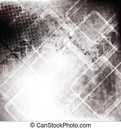 Technical grunge vector design - Hi-tech grunge background...