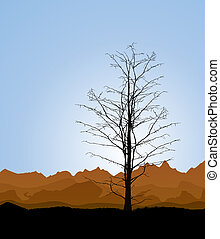 Tree trunk - Environmental background with a dead tree...