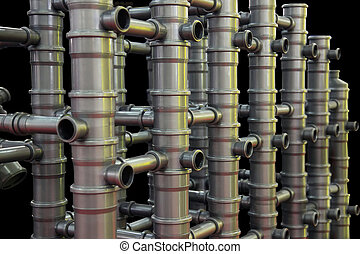 Plastic Pipes - Abstract Composition from Plastic Pipes for...