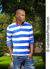 Confident male model - Fashion portrait of a great looking...