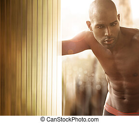 Male model - Intimate portrait of beautiful young man