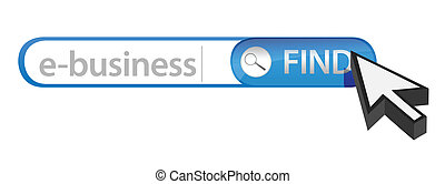 search bar containing the word e-business illustration