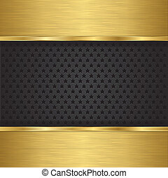 Abstract golden background with metallic speaker grill,...