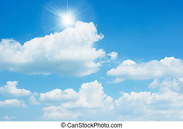 clear sky - Blue sky background with white clouds