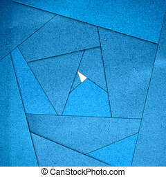 Blue abstract paper background