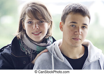 young man and woman in lo